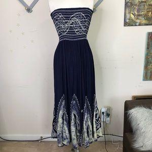 Advance apparel BoHo tie dye Midi dress